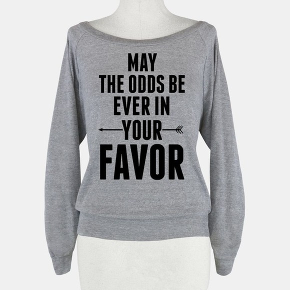mockingjay hunger games sweater arrow gray