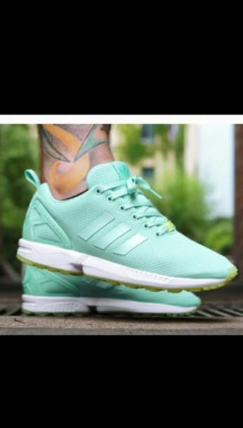 shoes adidas shoes zxflux mint