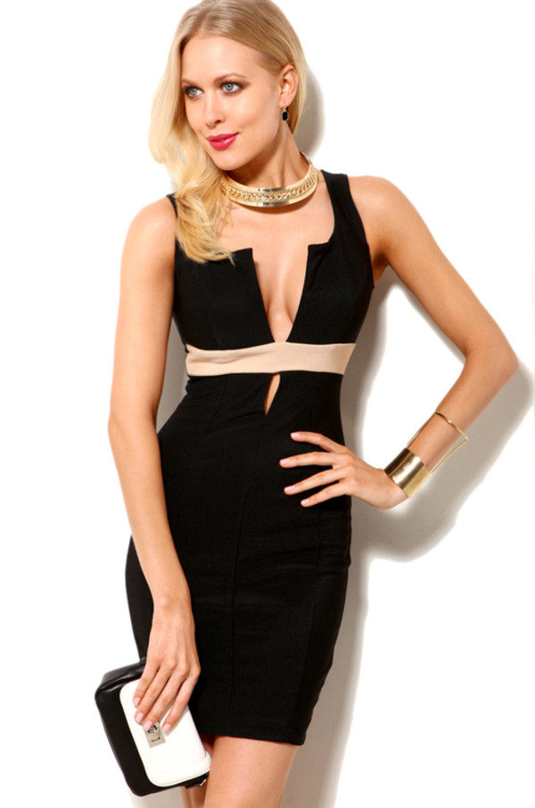 dress black black sexy dress sleeveless dress pancil dress prom dress slim fit black pencil dress