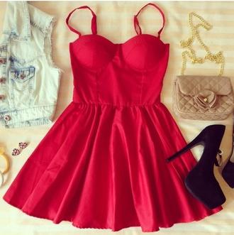 red dress sexy dress bustier dress