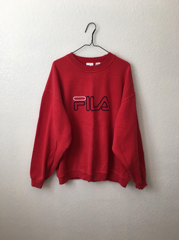 5dc12f577bce5 90s Vintage Fila Crewneck Sweatshirt Jumper Embroidered Logo 90s Hip Hop  Culture