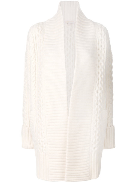 MICHAEL Michael Kors cardigan cardigan open women nude wool knit sweater