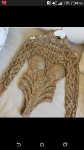 jumpsuit,gold sequins,bodysuit,sequins