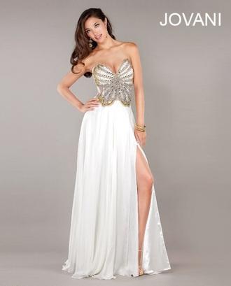 dress prom prom dress white white dress white prom dress long dress white long dress long prom dress long white prom dress jovani promgirl.com