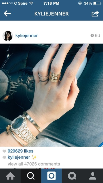 jewels gold ring kylie jenner jewelry