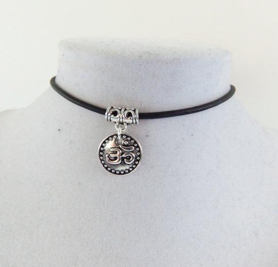 Ohm Necklace Om Choker Spiritual Yoga Buddha Gifts Gift Ideas