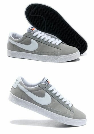 shoes greyshoes nike shoes low top sneakers low