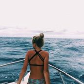 swimwear,bikini top,bikini,black bikini,beaty,water,sea,swimwears,bikinis 2015,summer outfits,criss cross back,black,strappy,crossy,double strap,straps
