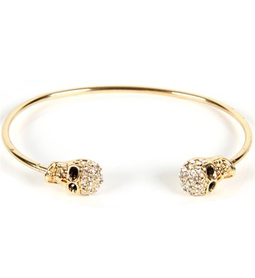 SALE-Gold Skull Cuff Bracelet on Wanelo