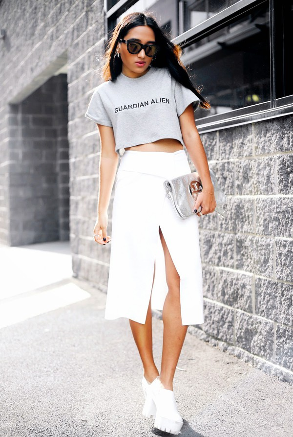 inside in inside out top skirt shoes bag sunglasses jewels