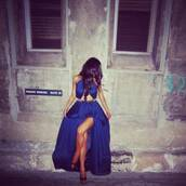 dress,maxi,maxi dress,blue