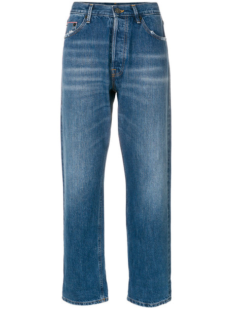 DONDUP jeans cropped jeans cropped women cotton blue