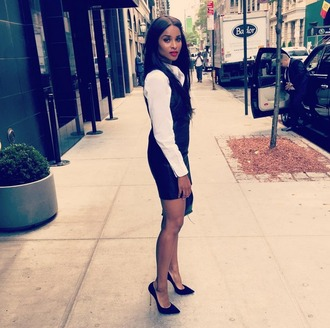shirt ciara dress pumps office outfits classy