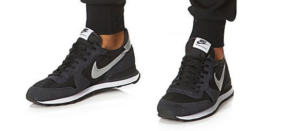 shoes nike trainers snearkers black navy grey