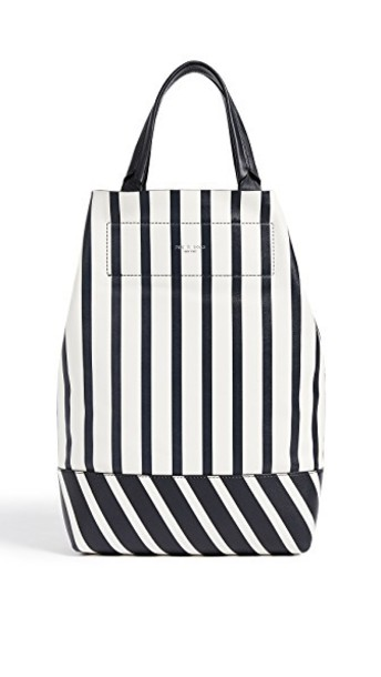 Rag & Bone stripes navy white bag