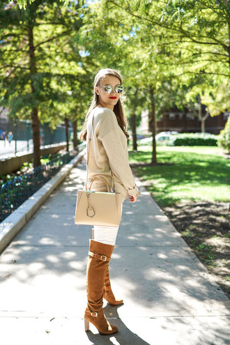 covering bases curvy blogger sweater shoes bag sunglasses jewels make-up