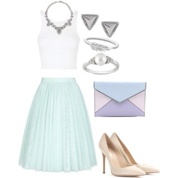 skirt jewels bag