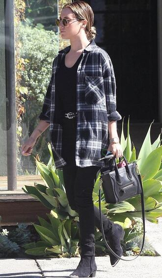 pants boots ashley tisdale shirt flannel flannel shirt
