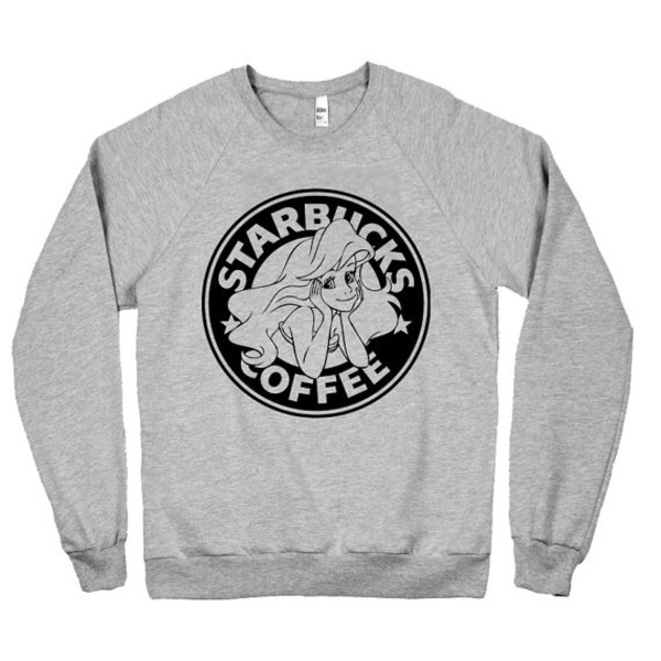sweater the little mermaid starbucks coffee shirt