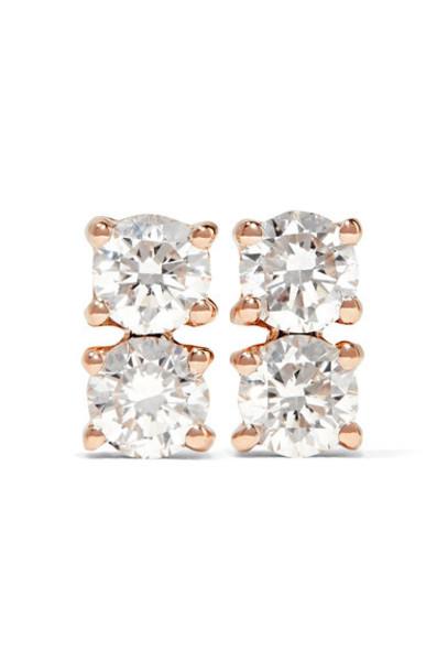 Anita Ko rose gold rose earrings gold jewels