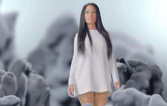 nicki minaj short dress white dress white long sleeves music video nicki minaj dress