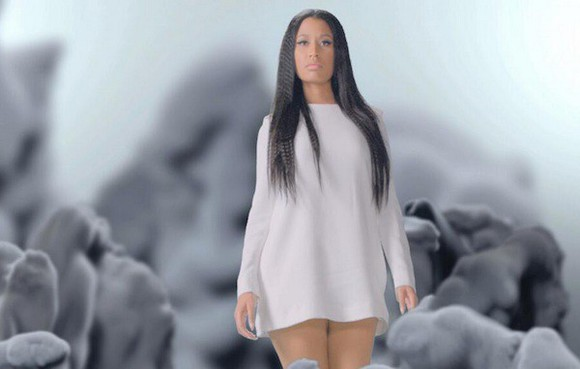short dress white dress nicki minaj long sleeved white