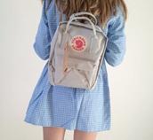 bag,girly,girl,girly wishlist,tumblr,grey,backpack,fjallraven kanken,Fjalleraven