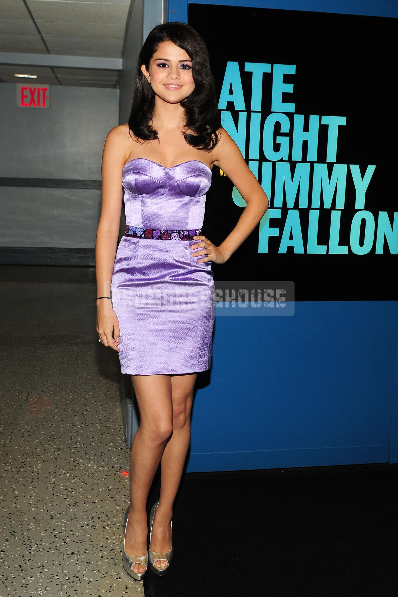 Mini Lilac Column Ribbon Fashion Celebrity Dress - Promdresshouse.com