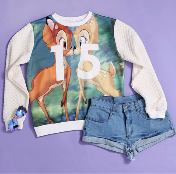 shorts long sleeve shirt bambi 15