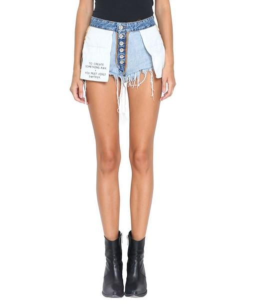 BEN TAVERNITI UNRAVEL PROJECT shorts denim cotton