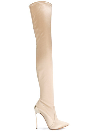 women boots leather nude silk satin shoes