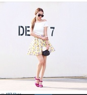skirt,colorful,skater skirt,floral,beach,pink,dress,cute,miley cyrus,designer,romper,party,short,dresse,prom dress,prom,yellow,white dress,orange,low cut,low,leather skirt,shiny skirt,skater,tiffanyblue #summer #blonde,sequins,champage,americanapparel,jersey,beige,nude,helgonets,tjejigt,girl,make-up,br,wedges,all star,converse wedges