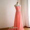 A-line round neckline rhinestone chiffon long prom dress, evening dress - 24prom