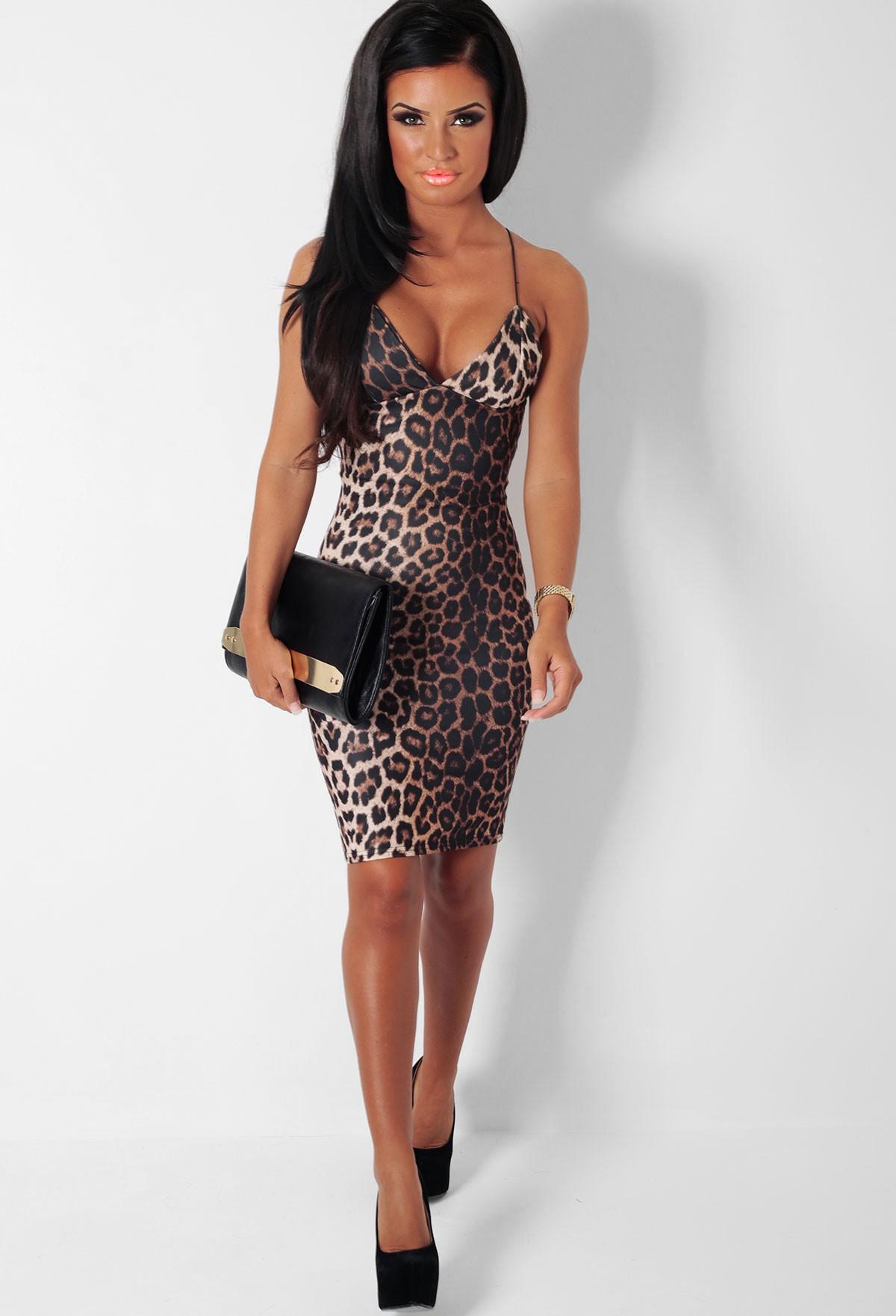 2066f286ab8b Vixen Leopard Print Bodycon Midi Dress | Pink Boutique