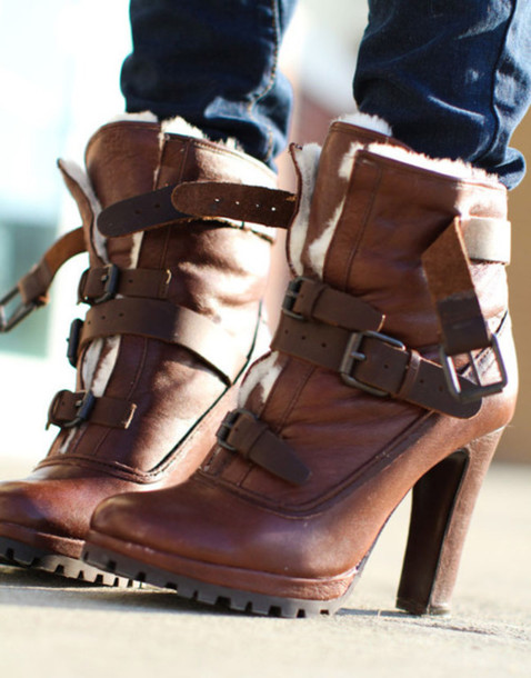shoes high heels boots wool buckles brown heels leather high heels boots buckle boots lace up boots brown leather boots fur boots platform high heels boho black boots with brown heel brown booties heel boots brown leather heeled boots with buttons on the front