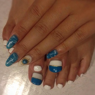 make-up nail art nail nail design stiletto nails ocean summer