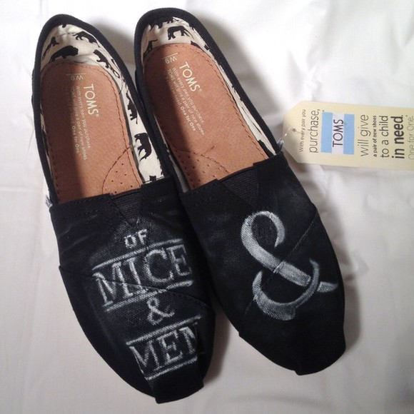 shoes toms of mice & men