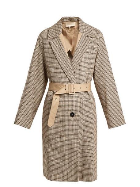 Vanessa Bruno - Iambo Checked Cotton Coat - Womens - Beige Multi
