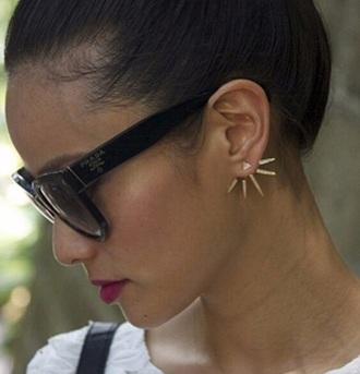 gold earrings jewels