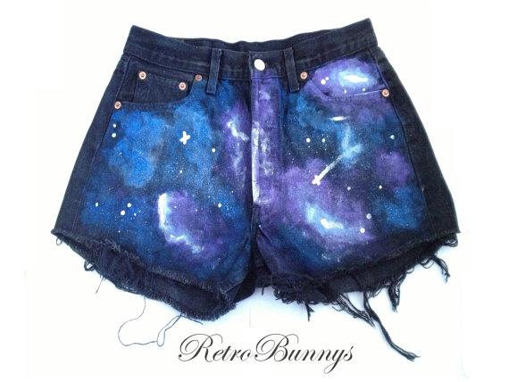 Custom shorts thegalaxy cutsom  levis galaxy shorts by retrobunnys