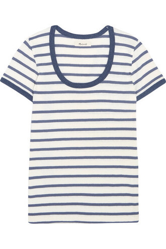 t-shirt shirt cotton blue top