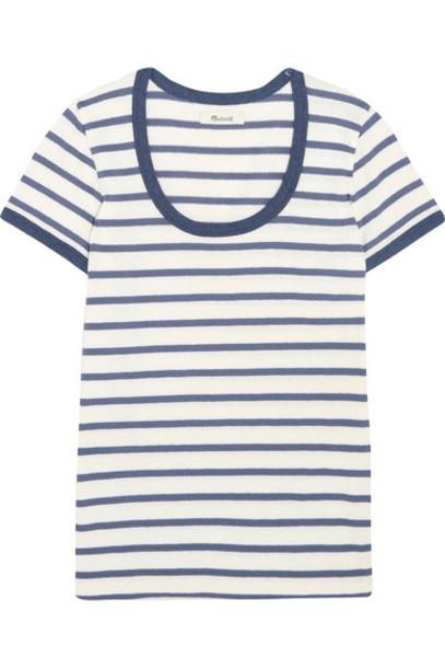Madewell - Grayson Striped Cotton-jersey T-shirt - Blue