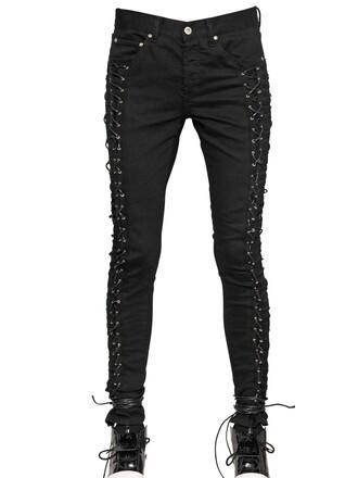 jeans denim lace cotton black