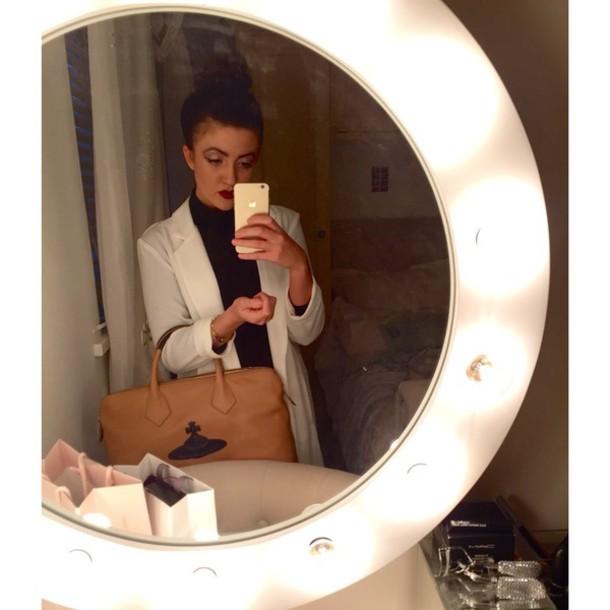 coat duster coat vivienne westwood bag mac cosmetics eyes