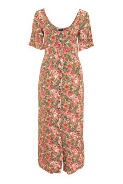 Topshop dress maxi tea floral pink