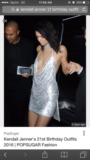 dress kendall jenner silver 21st kendall and kylie jenner mini dress sequins sequins sparkle shiny rhinestones diamonds diamonds birthday 21 kardashians simpleeapparel celebrity style celebrity sexy glitter glitter dress birthday dress club dress sexy dress valentines day gift idea 21st birthday