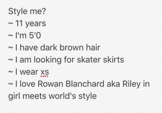 skirt girl meets world style me skater skirt