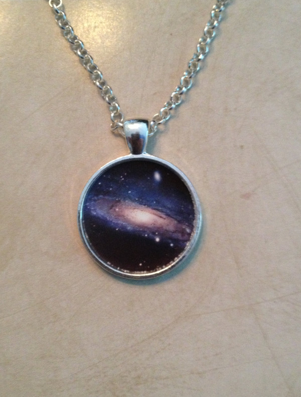 jewels necklace galaxy print jewelry women style