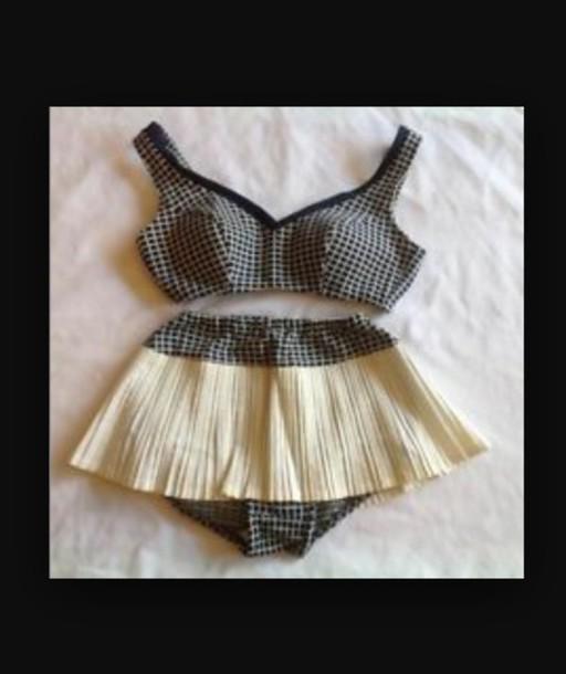 swimwear vintage swimwear skirt 40's-50's