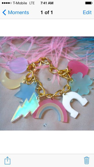 jewels lucky charms kawaii rainbow
